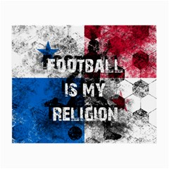 Football Is My Religion Small Glasses Cloth (2 Side) by Valentinaart