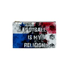 Football Is My Religion Cosmetic Bag (small)  by Valentinaart