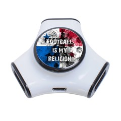 Football Is My Religion 3 Port Usb Hub by Valentinaart