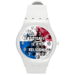 Football Is My Religion Round Plastic Sport Watch (m) by Valentinaart