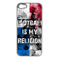Football Is My Religion Apple Iphone 5 Case (silver) by Valentinaart