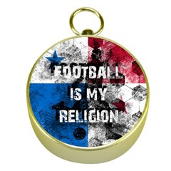 Football Is My Religion Gold Compasses by Valentinaart