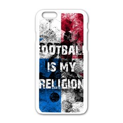 Football Is My Religion Apple Iphone 6/6s White Enamel Case by Valentinaart