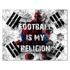 Football Is My Religion Rectangular Jigsaw Puzzl by Valentinaart