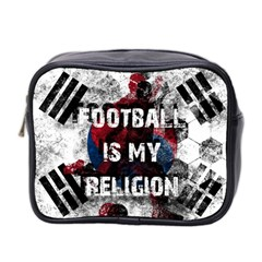 Football Is My Religion Mini Toiletries Bag 2 Side by Valentinaart