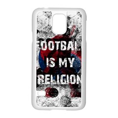 Football Is My Religion Samsung Galaxy S5 Case (white) by Valentinaart