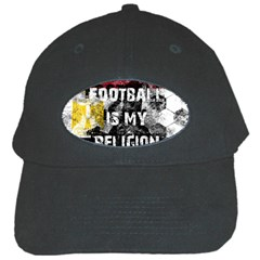 Football Is My Religion Black Cap by Valentinaart