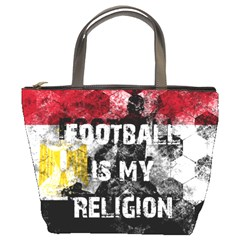 Football Is My Religion Bucket Bags by Valentinaart