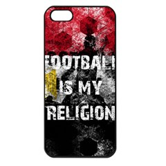 Football Is My Religion Apple Iphone 5 Seamless Case (black) by Valentinaart