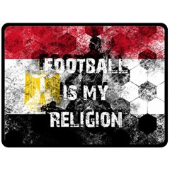 Football Is My Religion Double Sided Fleece Blanket (large)  by Valentinaart