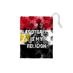 Football Is My Religion Drawstring Pouches (small)  by Valentinaart