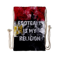 Football Is My Religion Drawstring Bag (small) by Valentinaart