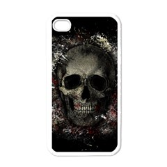 Skull Apple Iphone 4 Case (white) by Valentinaart