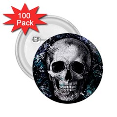 Skull 2 25  Buttons (100 Pack)  by Valentinaart