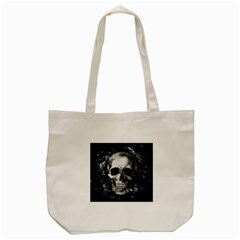 Skull Tote Bag (cream) by Valentinaart