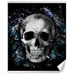 Skull Canvas 16  X 20   by Valentinaart
