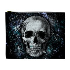 Skull Cosmetic Bag (xl) by Valentinaart
