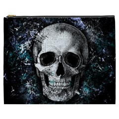 Skull Cosmetic Bag (xxxl)  by Valentinaart
