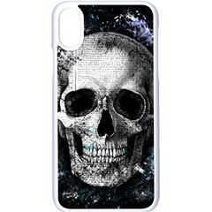Skull Apple Iphone X Seamless Case (white) by Valentinaart