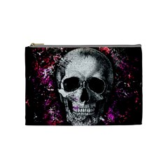 Skull Cosmetic Bag (medium)  by Valentinaart