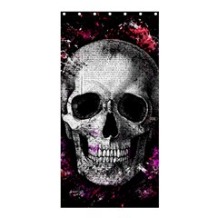 Skull Shower Curtain 36  X 72  (stall)  by Valentinaart