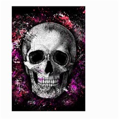 Skull Large Garden Flag (two Sides) by Valentinaart