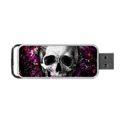 Skull Portable Usb Flash (two Sides) by Valentinaart
