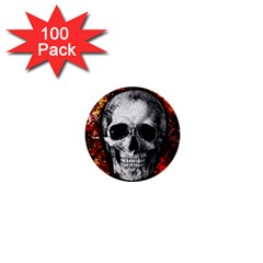 Skull 1  Mini Buttons (100 Pack)  by Valentinaart