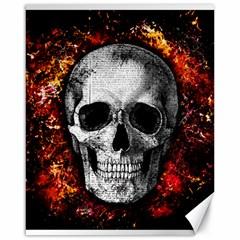 Skull Canvas 16  X 20   by Valentinaart