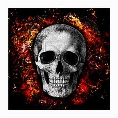 Skull Medium Glasses Cloth by Valentinaart