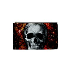 Skull Cosmetic Bag (small)  by Valentinaart