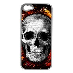 Skull Apple Iphone 5 Case (silver)