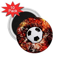 Football  2 25  Magnets (10 Pack)  by Valentinaart