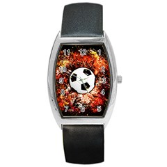 Football  Barrel Style Metal Watch by Valentinaart