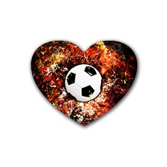 Football  Rubber Coaster (heart)  by Valentinaart