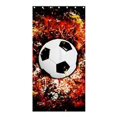 Football  Shower Curtain 36  X 72  (stall)  by Valentinaart