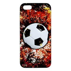 Football  Apple Iphone 5 Premium Hardshell Case by Valentinaart