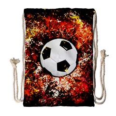 Football  Drawstring Bag (large) by Valentinaart