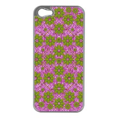 Paradise Flowers In Bohemic Floral Style Apple Iphone 5 Case (silver)