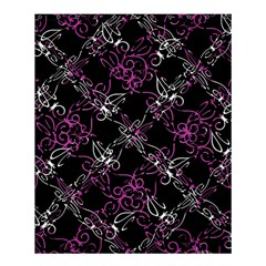 Dark Intersecting Lace Pattern Shower Curtain 60  X 72  (medium)  by dflcprints