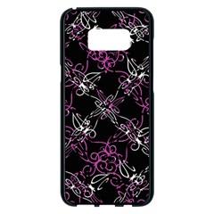 Dark Intersecting Lace Pattern Samsung Galaxy S8 Plus Black Seamless Case