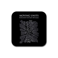 Moving Units Collision With Joy Division Rubber Square Coaster (4 Pack)