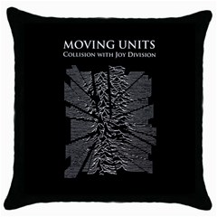 Moving Units Collision With Joy Division Throw Pillow Case (black)