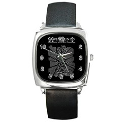 Moving Units Collision With Joy Division Square Metal Watch by Samandel