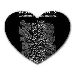 Moving Units Collision With Joy Division Heart Mousepads