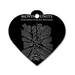 Moving Units Collision With Joy Division Dog Tag Heart (two Sides)