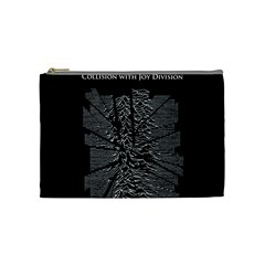 Moving Units Collision With Joy Division Cosmetic Bag (medium)