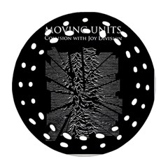 Moving Units Collision With Joy Division Round Filigree Ornament (two Sides)