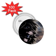 Angry Male Lion Digital Art 1 75  Buttons (100 Pack)