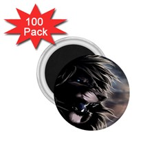 Angry Male Lion Digital Art 1 75  Magnets (100 Pack)